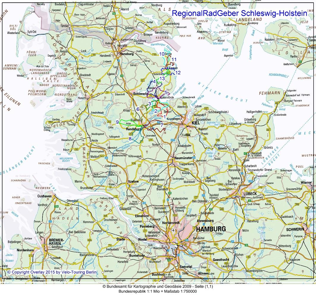 Ostsee Karte Schleswig Holstein.Velo Touring Regionalradgeber Tagestouren In Schleswig Holstein