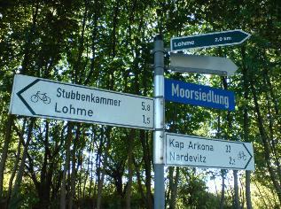 Radweg Sassnitz Königsstuhl