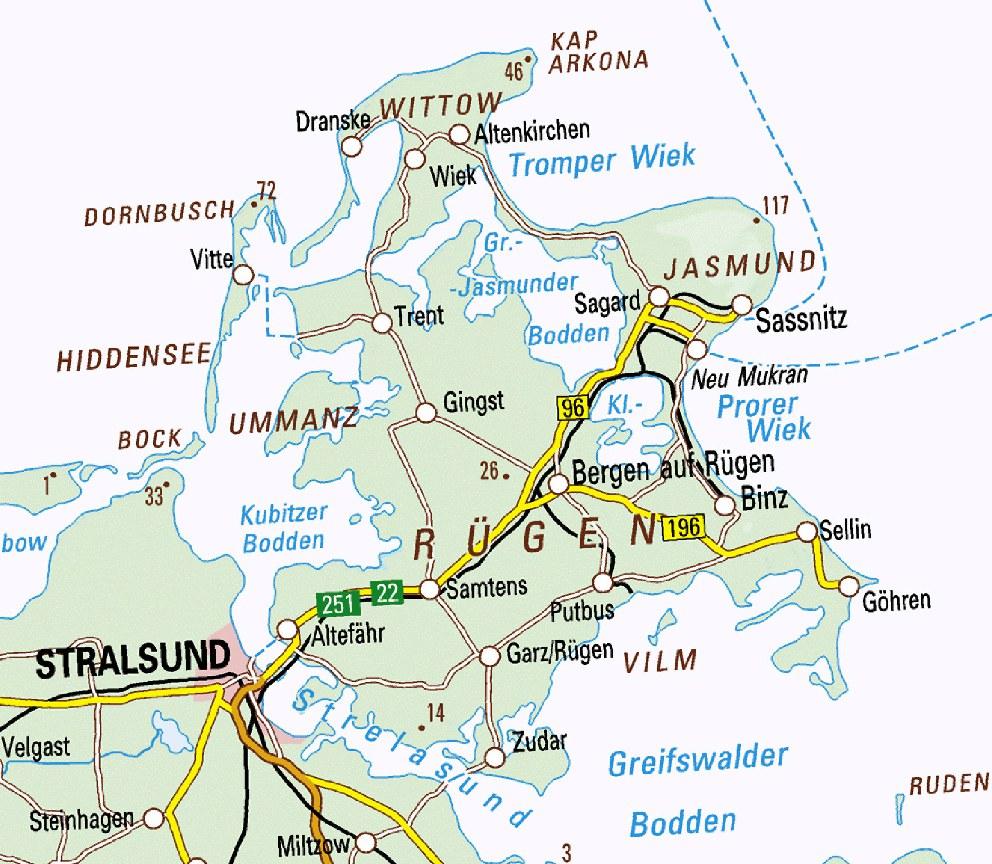 Karte Rügen.Velo Touring Reiseführer Ostsee Radweg Mv Etappe 8 Von